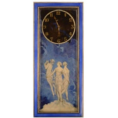 20th Century Silver Clock, Art Nouveau