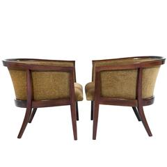 Walnut Frame Lounge Chairs by Milo Baughman for Thayer Coggin