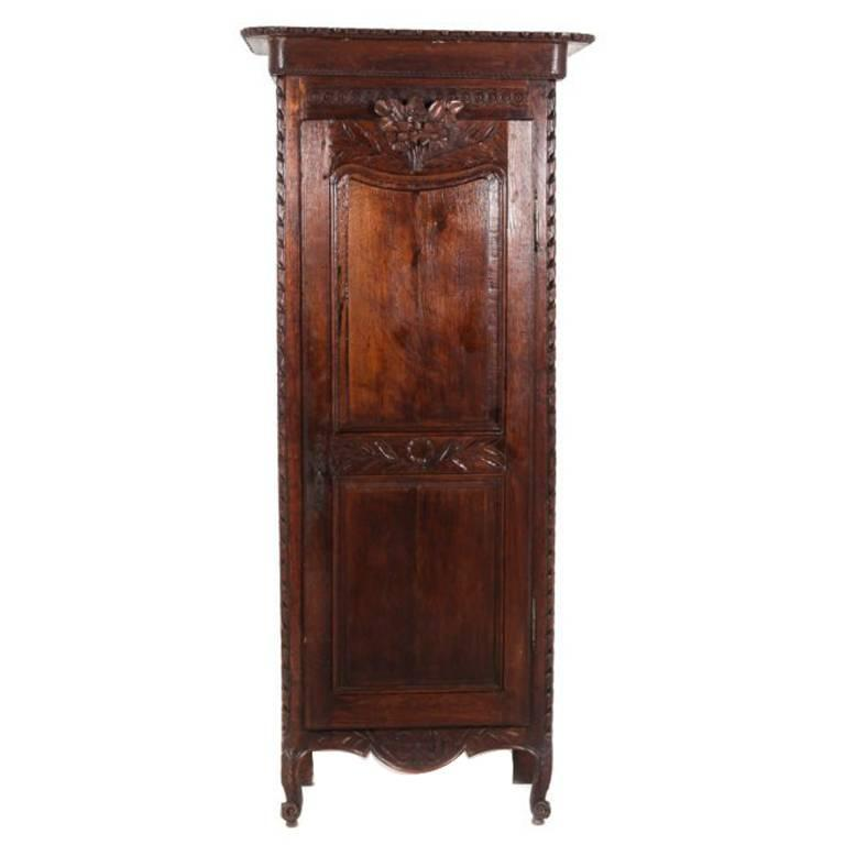 Antique French Single Door Armoire At
