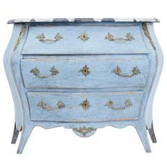 Early 20th Century, Swedish Painted Bombe Shaped Commode
