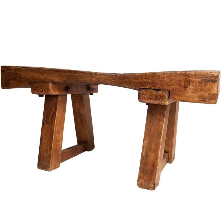 Chopping Block Low Table For Sale