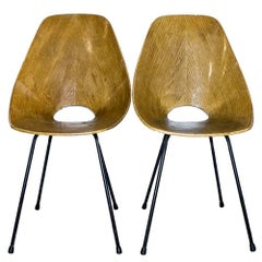 Pair of Vittorio Nobili Medea Chairs, Italy, 1955