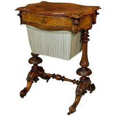 Decorative High Victorian Sewing Table