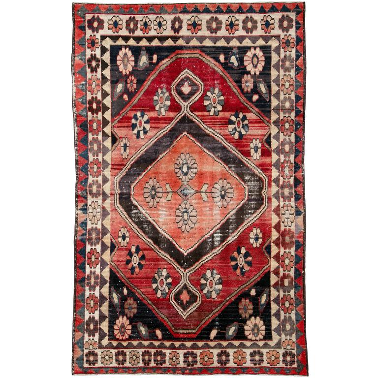 Vintage Persian Gabbeh Rug For