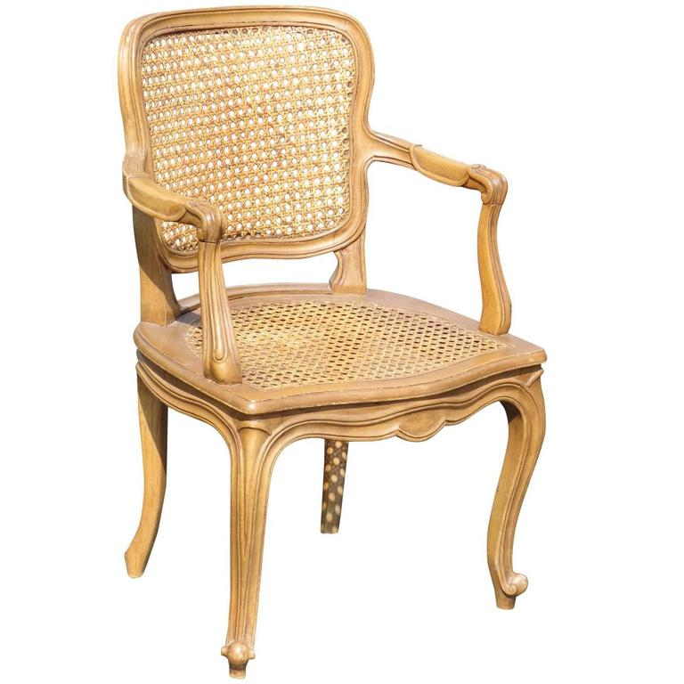 louis xvi style child 39 s caned fauteuil for sale at 1stdibs. Black Bedroom Furniture Sets. Home Design Ideas