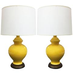 Vintage Yellow Lamps