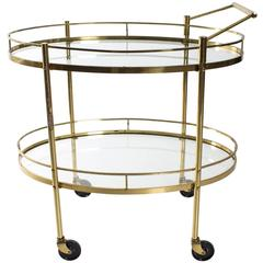 Mid-Century Brass Bar Cart