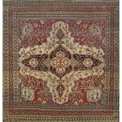 Late 19th Century Isfahan Rug from Central Persia