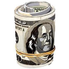 Original Diederick Kraaijeveld Pop Art Hundred Dollar Bill Roll