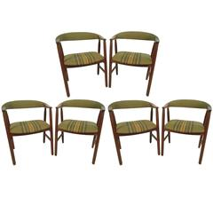 Set of Six Dining Chairs in the Style of Kai Kristiansen