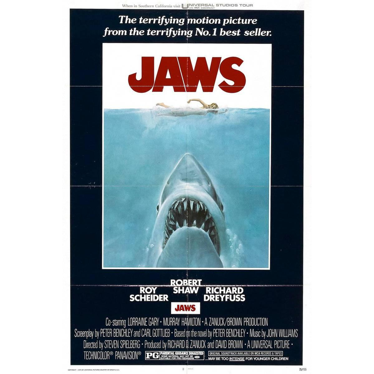 """""""Jaws"""" Film Poster, 1975"""