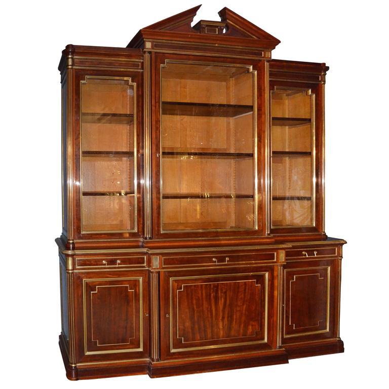 19th Century French Louis XVI Mahogany Bookcase