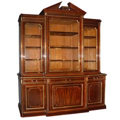 19th Century French Louis XVI Mahogany Bookcase