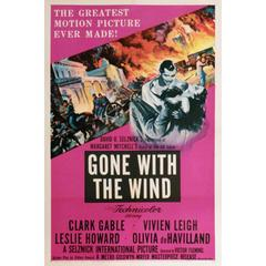 """Gone with the Wind"" Film Poster, 1954"