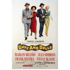 """""""Guys and Dolls"""" Film Poster, 1955"""