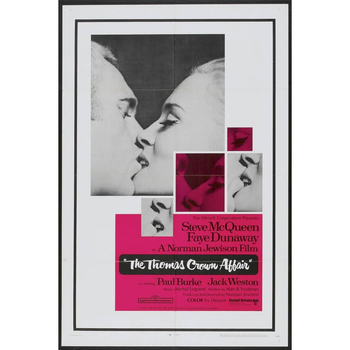 """The Thomas Crown Affair"" Film poster, 1968"