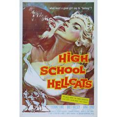 """High School Hellcats"" Film Poster, 1958"