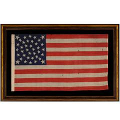 38 Stars on an Extraordinary Antique Flag Made for the 1876 Centennial Expo