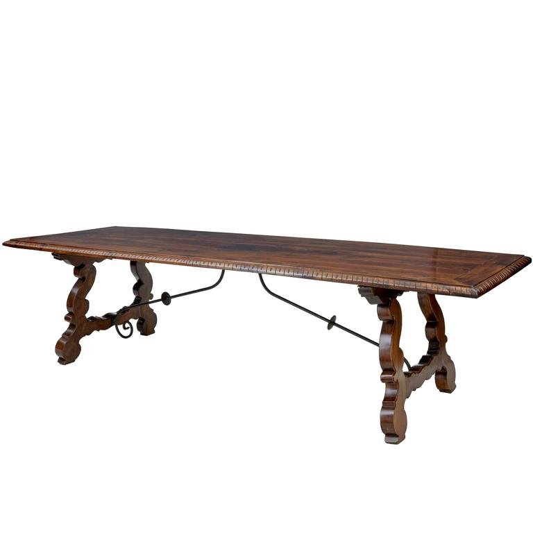 Large 19th Century Spanish Refectory Dining Table