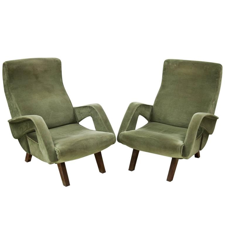 Lounge chairs italy mid 20th century for sale at 1stdibs for Mid 20th century furniture