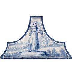 "18th Century Tile Panel Representing ""Santo António"""