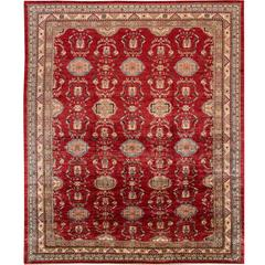 Beautifully Contrasted Modern Kazak Rug
