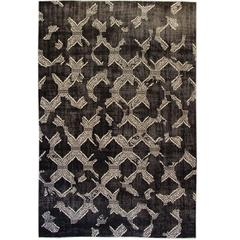 Beautifully Contrasted Modern Moroccan Style Rug