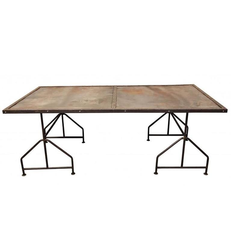 Industrial Steel Door Mounted as a Table