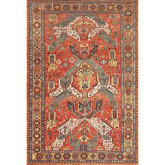 Antique Dragon Soumak Caucasian Rug
