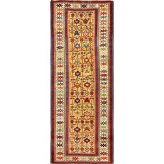 Antique Tribal Kuba Caucasian Rug Runner