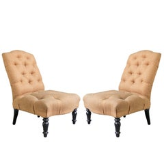 Pair of 19th Century Slipper Chairs