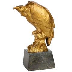 "Art Deco ""Vulture"" Bronze Sculpture by Maurice Prost"