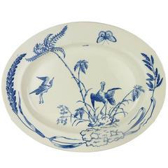 English Copeland Ironstone Aesthetic Movement Blue and White Platter