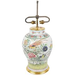 18th Century Chinese Famille Rose Vase / Lamp