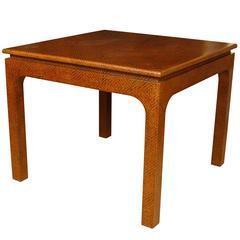 Karl Springer Style Raffia Games Table