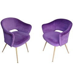Pair of Italian Cocktail Chairs