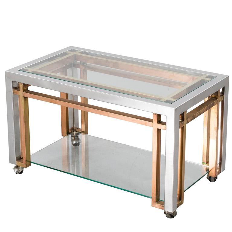 Romeo Rega Side Table Trolley For Sale
