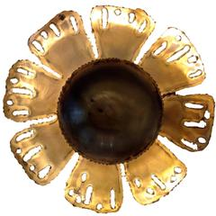 Holm Sorensen Brass Flower Wall Light