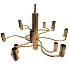 Sciolari Brass Chandelier