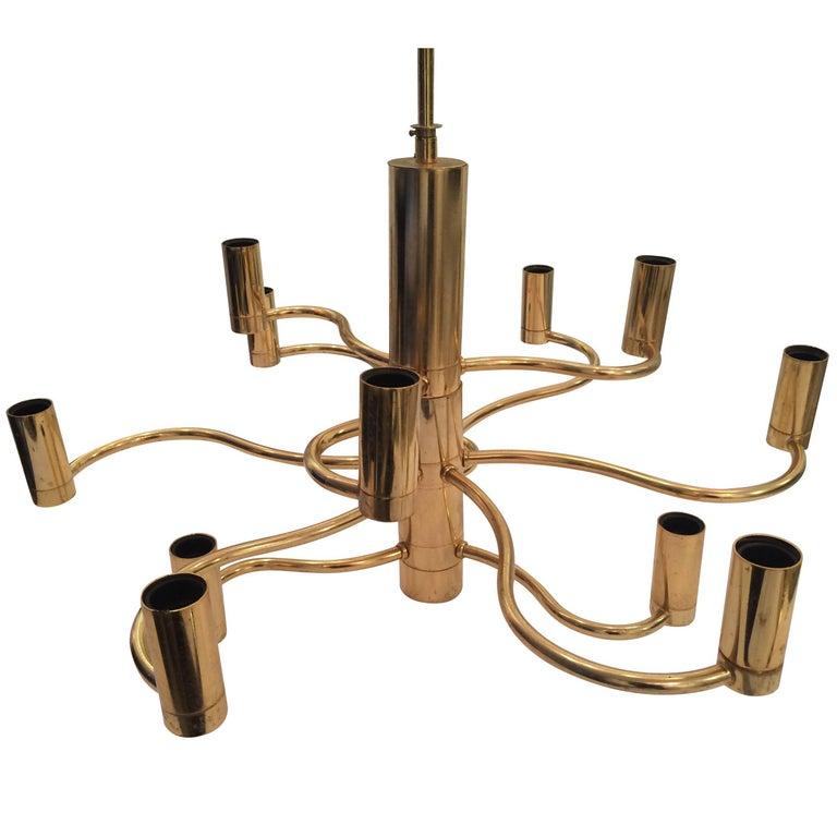 Sciolari Brass Chandelier For Sale