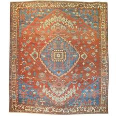 Antique Persian Serapi Bakshaish Rug