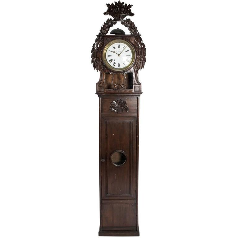 19th Century Grandfather Clock For Sale