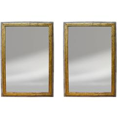 Pair of Painted and Giltwood Mirrors from the South of France