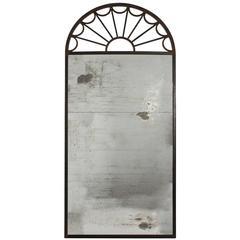 Steel Fan Shaped Mirror