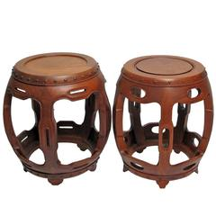 Chinese Teak Wood Stools