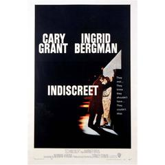 """Indiscreet"" Film Poster, 1958"