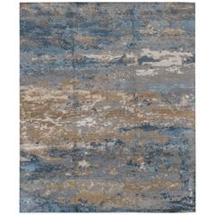 Gorgeously Contrasted Modern Rose Wood Rug