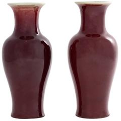 Sang De Boeuf Vases