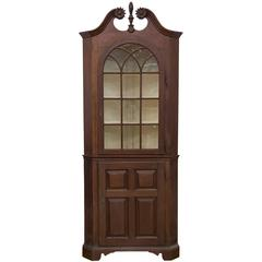 Rare Early Chippendale Walnut Corner Cupboard, Lancaster County, PA, circa 1740