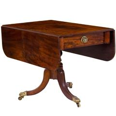 Classical Mahogany Drop-Leaf Table, Probably Boston, circa 1820